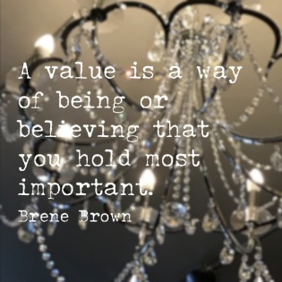 Values light the way