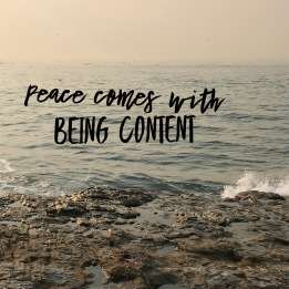 peace with contentment