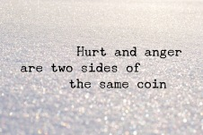hurt and anger
